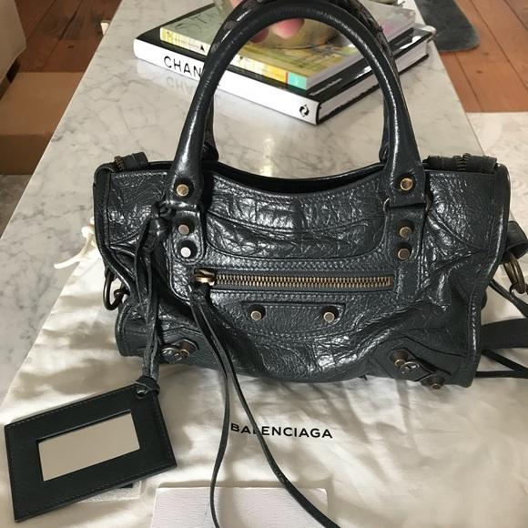 e43d3a4840 Balenciaga Handbags - Balenciaga Mini City Anthracite Gray Bag
